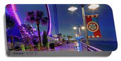 Portable Battery Charger featuring the photograph Kemah Boardwalk - Amusement Park - Texas by Jason Politte