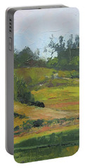 Portable Battery Charger featuring the painting Kenilworth Hills Queensland Australia by Chris Hobel