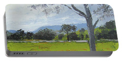 Portable Battery Charger featuring the painting Kenilworth Landscape Queensland Australia by Chris Hobel