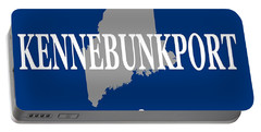 Portable Battery Charger featuring the photograph Kennebunk Maine State City And Town Pride  by Keith Webber Jr