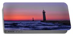 Kenosha Lighthouse Blue Waves Portable Battery Charger