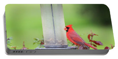 Portable Battery Charger featuring the photograph Kentucky Cardinal  by Ricky L Jones