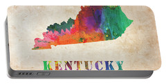 Kentucky Colorful Watercolor Map Portable Battery Charger
