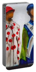 Kentucky Derby Jockey Mannequins Portable Battery Charger