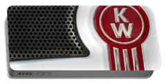 Kenworth Tractor White Portable Battery Charger