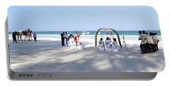 Kenya Wedding On Beach Wide Scene Portable Battery Charger