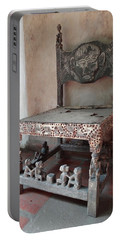 Kenyan African Antique Carved Chair Portable Battery Charger