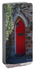 Red Church Door Portable Battery Charger