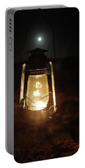 Kerosine Lantern In The Moonlight Portable Battery Charger