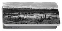 Kettle Pond And The Alaska Range Portable Battery Charger
