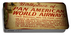 Key West Florida - Pan American Airways Birthplace Sign Portable Battery Charger