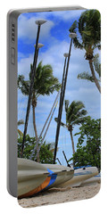 Key West - Sailboats On Beach Portable Battery Charger