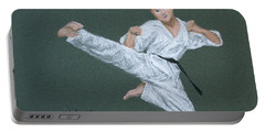 Kick Fighter Portable Battery Charger by Marna Edwards Flavell