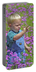 Kid In The Meadow Portable Battery Charger