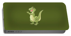 Kiddies Dinosaur T-shirt Portable Battery Charger by Herb Strobino