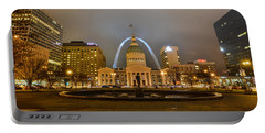 Kiener Plaza And The Gateway Arch Portable Battery Charger