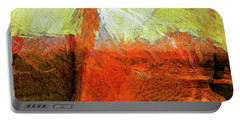 Portable Battery Charger featuring the painting Kilauea by Dominic Piperata