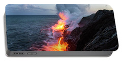 Kilauea Volcano Lava Flow Sea Entry 3- The Big Island Hawaii Portable Battery Charger