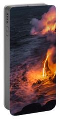 Kilauea Volcano Lava Flow Sea Entry 6 - The Big Island Hawaii Portable Battery Charger