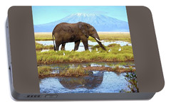 Kilimanjaro Mountain Portable Battery Charger by Happy Home Artistry