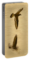 Killdeer Over The Pond Portable Battery Charger by Carol Groenen