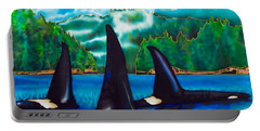 Killer Whales Portable Battery Charger