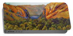 Portable Battery Charger featuring the painting Kimberley Outback Australia by Chris Hobel