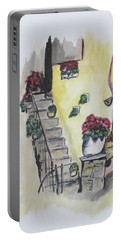 Kimberly's Castellabate Flowers Portable Battery Charger