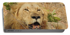 Portable Battery Charger featuring the photograph King by Betty-Anne McDonald