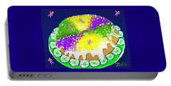 Portable Battery Charger featuring the digital art King Cake by Jean Pacheco Ravinski