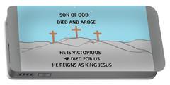 King Jesus Portable Battery Charger by Linda Velasquez