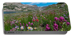 Portable Battery Charger featuring the photograph King Lake Summer Landscape by Cascade Colors