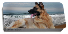 King Of The Beach - German Shepherd Dog Portable Battery Charger