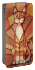 King Of The Cats Portable Battery Charger by Jutta Maria Pusl