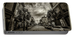 King St. Storm Clouds Charleston Sc Portable Battery Charger