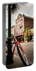 Portable Battery Charger featuring the photograph King Street Charleston Sc  -7436 by John Bald