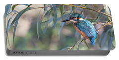 Kingfisher In Willow Portable Battery Charger