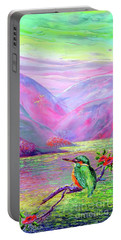 Kingfisher, Shimmering Streams Portable Battery Charger
