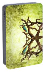 Kingfisher Supper Portable Battery Charger by Sharon Lisa Clarke