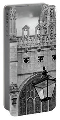 Portable Battery Charger featuring the photograph Kings College Chapel Cambridge Exterior Detail by Gill Billington
