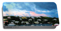 Portable Battery Charger featuring the photograph King's Wharf Bermuda Harbor Sunrise by Susan Savad