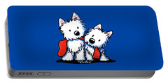 Kiniart Red Sock Westies Portable Battery Charger