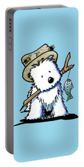 Kiniart Westie Fisherman Portable Battery Charger