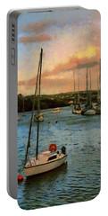 Kinsale Harbour Evening Portable Battery Charger by Jeff Kolker