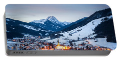 Kirchberg Austria In The Evening Portable Battery Charger