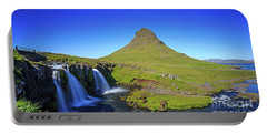 Portable Battery Charger featuring the photograph Kirkjufell Iceland by Edward Fielding