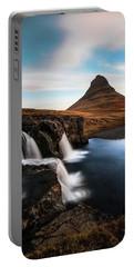 Kirkjufellsfoss Waterfalls Iceland Portable Battery Charger