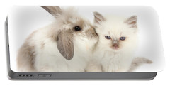 Kiss Her Fluffy Cheek Portable Battery Charger