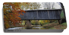 Portable Battery Charger featuring the photograph Kissing Bridge At Fall by Eric Liller