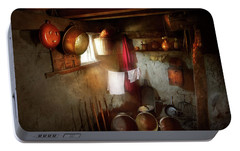 Portable Battery Charger featuring the photograph Kitchen - Homesteading Life by Mike Savad